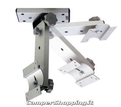 Staffa porta tv per camper e imbarcazioni a soffitto w1 tecnidea - Porta tv da soffitto ...